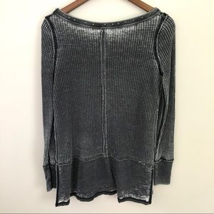 Free People Tops - We the Free Gray Distressed Star-Studded Thermal